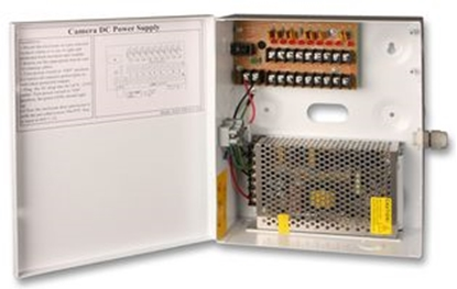 Picture of 9 WAY BOXED PSU 10 AMP HAY-PSU912-10A