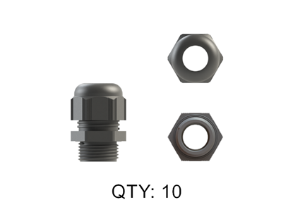 Picture of CABLE GLAND NYLON 20MM GREY IP68 10 PACK