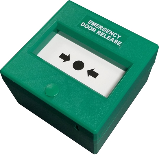 Picture of GREEN RESETABLE EMERGENCY DOOR RELEASE