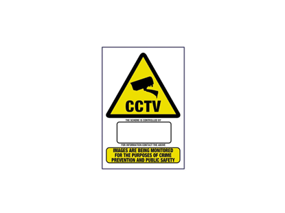 Picture of A3 CCTV WARNING SIGN