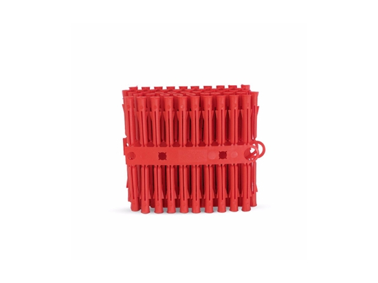 Picture of RED PLASTIC WALL PLUG (PK100)
