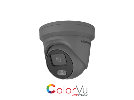 Picture of HIKVISION 4MP COLORVU IP TURRET 2.8MM GREY