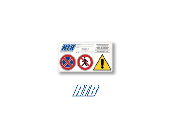 Picture of RIB WARNING PLATE