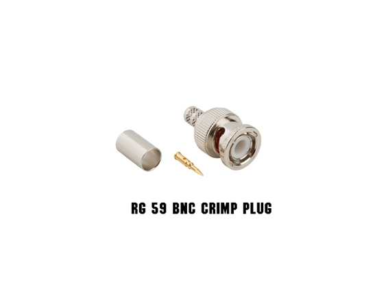 Picture of RG59 BNC CRIMP PLUG 75 OHM, 09-7610