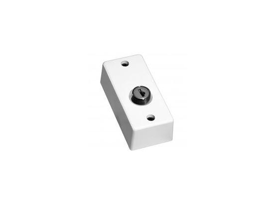 Picture of KEYSWITCH PASS SWITCH POLY/CARB WHITE C/W 3KEY,