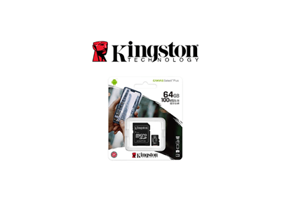 Picture of KINGSTON CANVAS SELECT PLUS 64GB CLASS 10/UHS-I